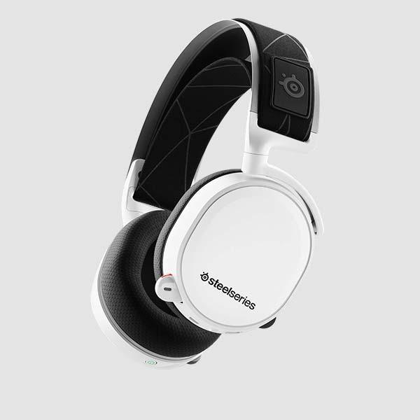 STEELSERIESスティールシリーズ61508ゲーミングヘッドセット2019EditionArctis7ホワイト[ワイヤレス(USB)+有線/両耳/ヘッドバンドタイプ][61508]