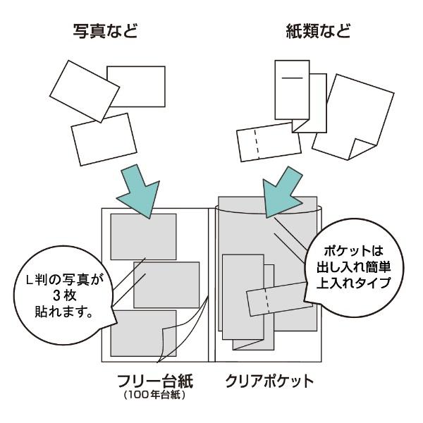 ナカバヤシNakabayashiログプラス100年台紙A4ALPA4HDブラック