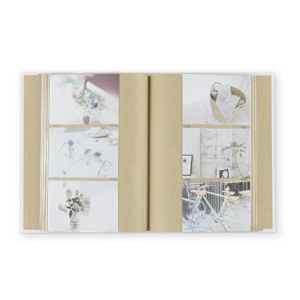 ナカバヤシNakabayashiハルマー無線綴ポケットアルバムL判3段240枚収納AHR3P101Wホワイト