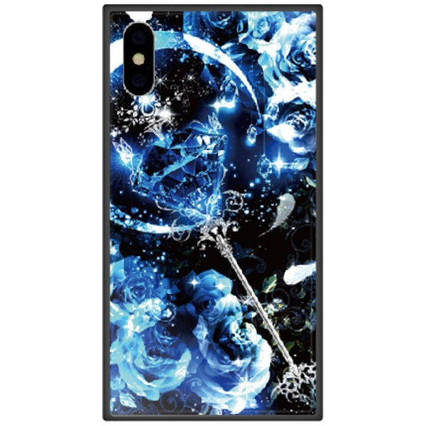 藤家FujiyaiPhoneXS5.8インチ用幻想デザインガラスハイブリッドP.サファイアスティック