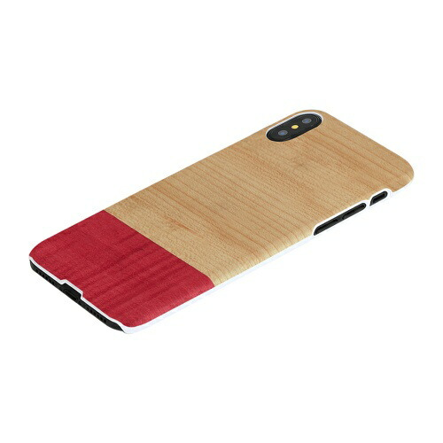 ROAロアiPhoneXS5.8インチ用天然木ケースMissmatch