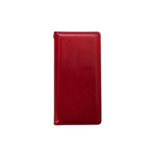 ROAロアiPhoneXS5.8インチ用ITALYCOWLEATHERCASERED