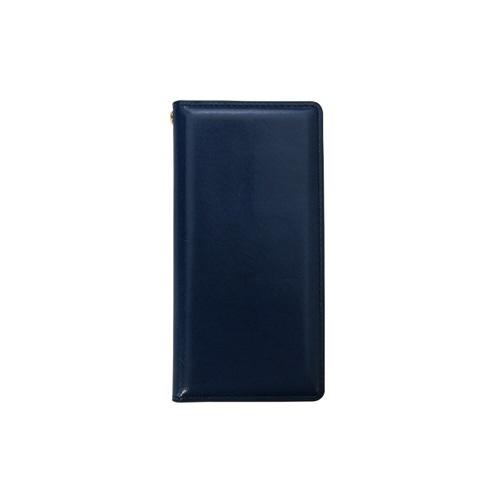 ROAロアiPhoneXS5.8インチ用ITALYCOWLEATHERCASENAVY