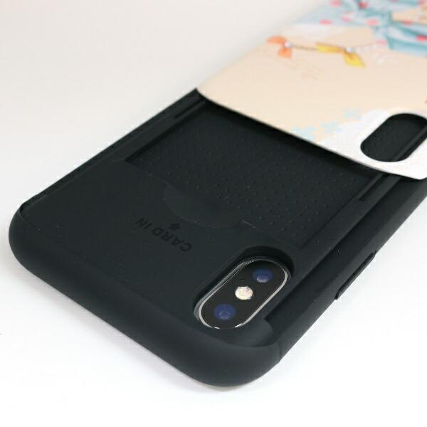 ROAロアiPhoneXS5.8インチ用CardslideDotScarfBlueScaft