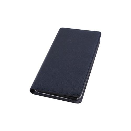 ROAロアiPhoneXR6.1SaffianoFlipCaseクラシックネイビー