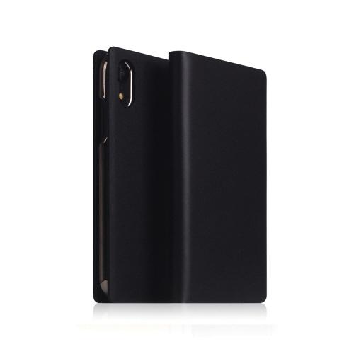 ROAロアiPhoneXR6.1CalfSkinLeatherDiaryブラック