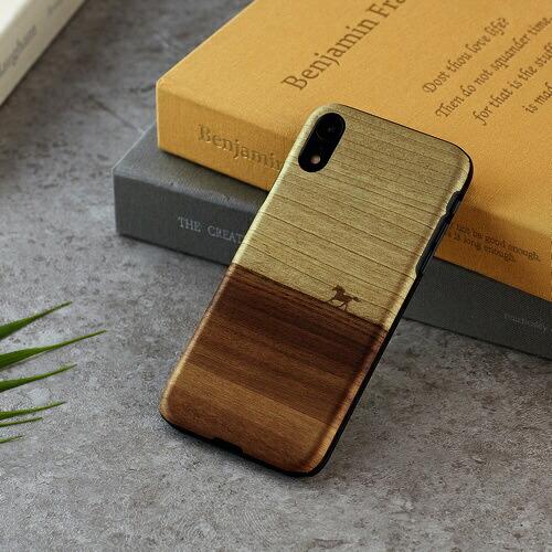 ROAロアiPhoneXR6.1天然木ケースウマ