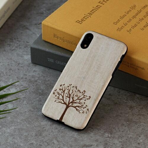 ROAロアiPhoneXR6.1天然木ケース木