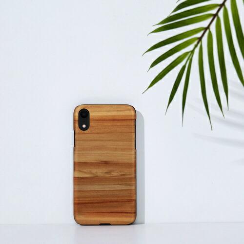 ROAロアiPhoneXR6.1天然木ケースCappuccino