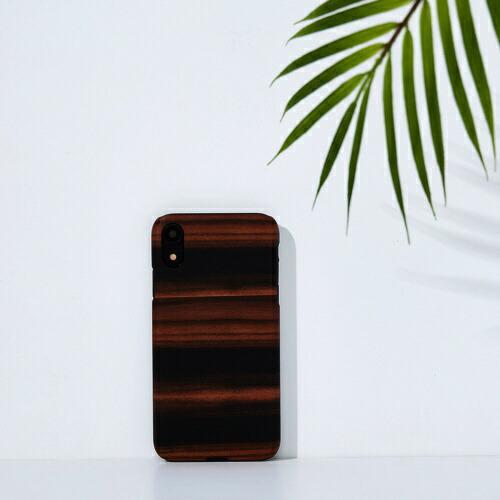 ROAロアiPhoneXR6.1天然木ケースEbony