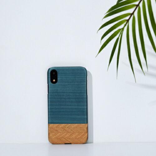 ROAロアiPhoneXR6.1天然木ケースDenim