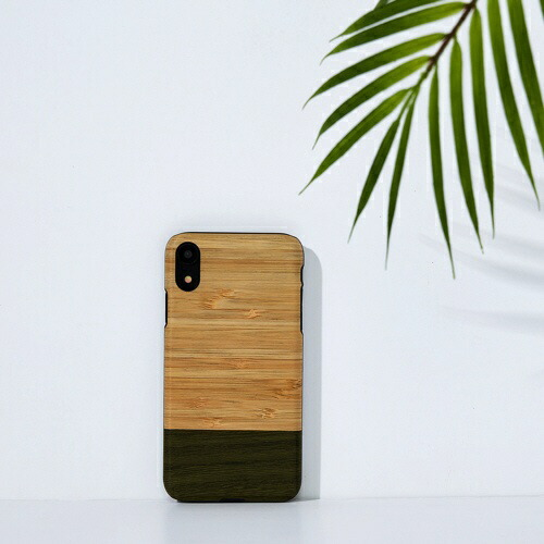 ROAロアiPhoneXR6.1天然木ケースBambooForest