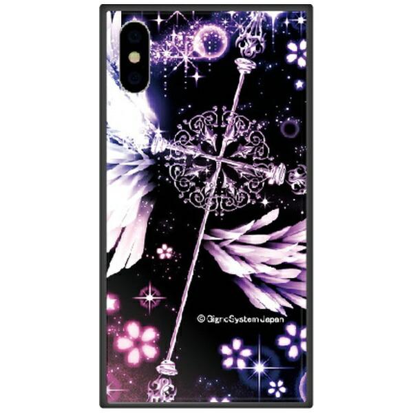 藤家FujiyaiPhoneXSMax6.5インチ用幻想デザインガラスハイブリッドC.クロス