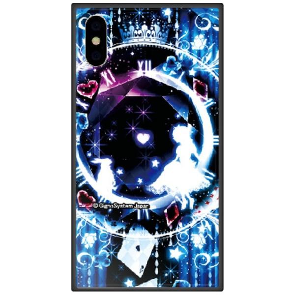 藤家FujiyaiPhoneXSMax6.5インチ用幻想デザインガラスハイブリッドF.幻想アリスブルー