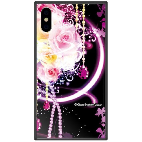 藤家FujiyaiPhoneXSMax6.5インチ用幻想デザインガラスハイブリッドH.幻想ピンクローズ