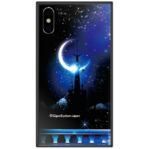 藤家FujiyaiPhoneXSMax6.5インチ用幻想デザインガラスハイブリッドI.城とブルームーン