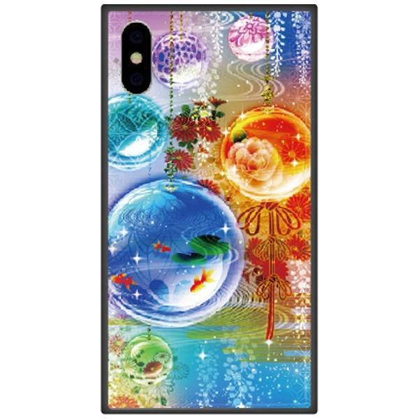 藤家FujiyaiPhoneXSMax6.5インチ用幻想デザインガラスハイブリッドM.硝子玉