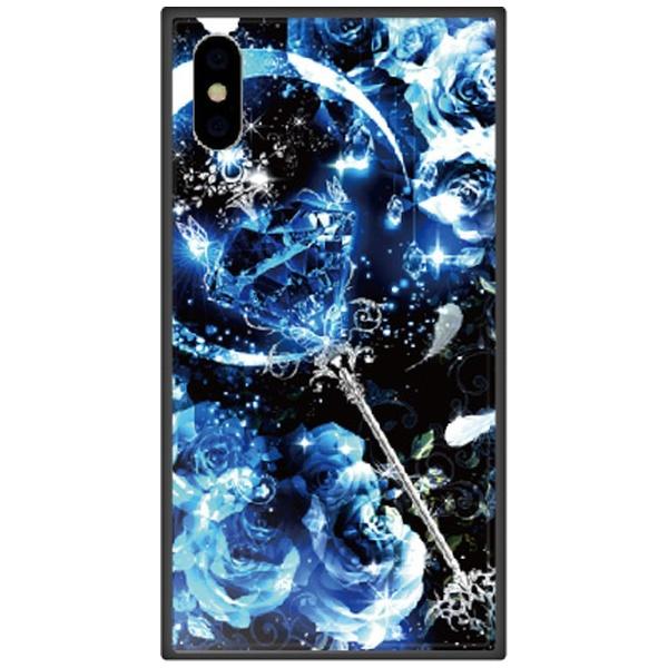 藤家FujiyaiPhoneXSMax6.5インチ用幻想デザインガラスハイブリッドP.サファイアスティック