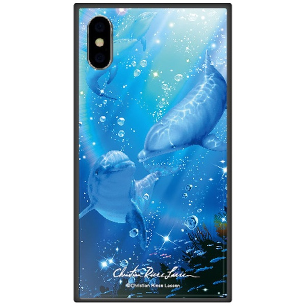 藤家FujiyaiPhoneXSMax6.5インチ用ラッセンガラスハイブリッドB.DESTINYOCEANII