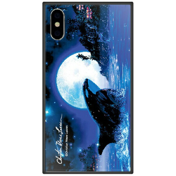 藤家FujiyaiPhoneXSMax6.5インチ用ラッセンガラスハイブリッドE.ORCAMOON