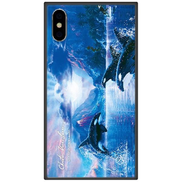 藤家FujiyaiPhoneXSMax6.5インチ用ラッセンガラスハイブリッドC.WHISPEROFTHEMOON