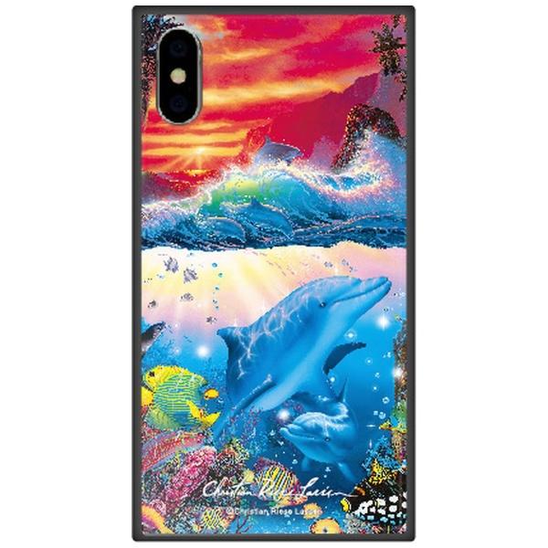 藤家FujiyaiPhoneXSMax6.5インチ用ラッセンガラスハイブリッドC.SHANGRI-LA-SUNSET