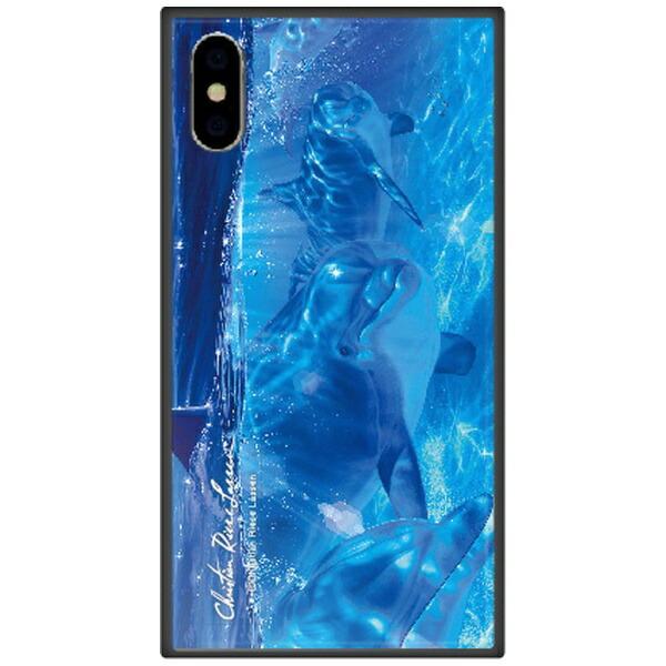 藤家FujiyaiPhoneXSMax6.5インチ用ラッセンガラスハイブリッドB.OCEANANGELSII