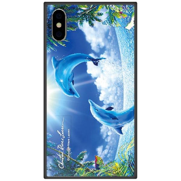 藤家FujiyaiPhoneXSMax6.5インチ用ラッセンガラスハイブリッドC.TROPICALMEMORY