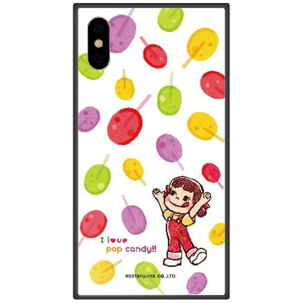 藤家FujiyaiPhoneXSMax6.5インチ用不二家ガラスハイブリッドF.ポップキャンディ