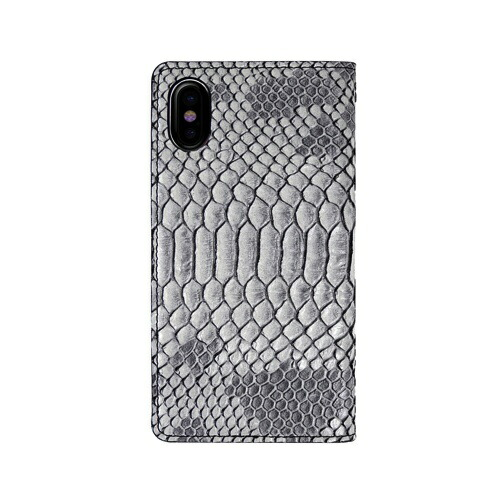 ROAロアiPhoneXSMax6.5インチ用MattPythonDiaryグレー