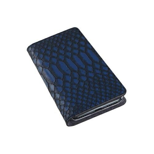 ROAロアiPhoneXSMax6.5インチ用MattPythonDiaryブルー