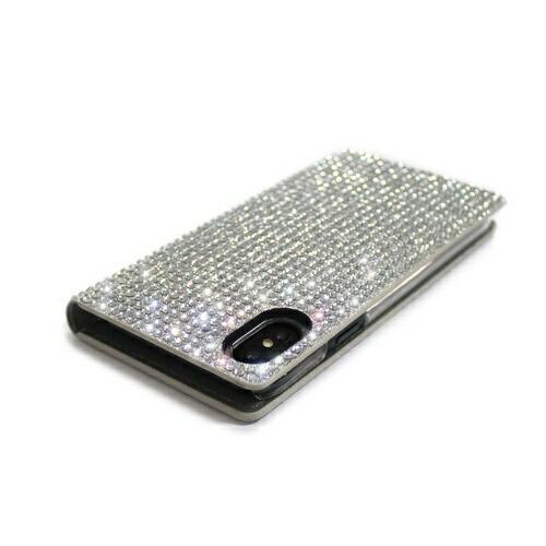 ROAロアiPhoneXSMax6.5インチ用PersianLeatherDiaryシルバー