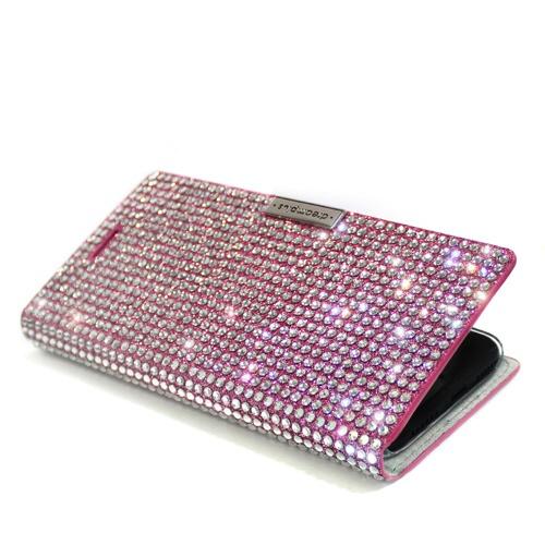 ROAロアiPhoneXSMax6.5インチ用PersianLeatherDiaryピンク