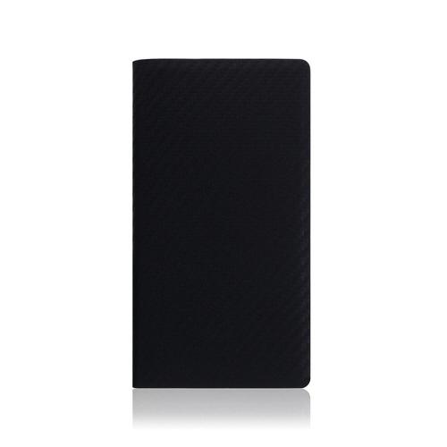 ROAロアiPhoneXSMax6.5インチ用carbonleathercaseブラック