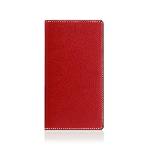 ROAロアiPhoneXSMax6.5インチ用MinervaBoxLeatherCaseレッド