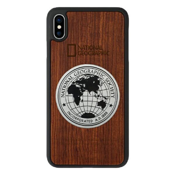 ROAロアiPhoneXSMax6.5インチ用Metal-DecoWoodCaseローズウッド
