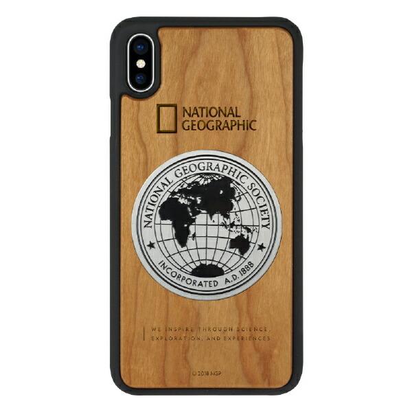 ROAロアiPhoneXSMax6.5インチ用Metal-DecoWoodCaseチェリーウッド