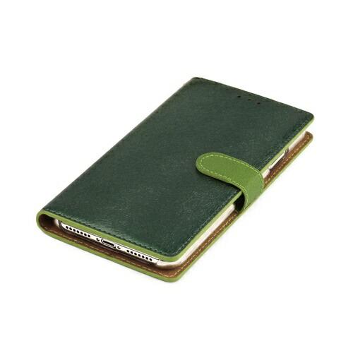 ROAロアiPhoneXSMax6.5インチ用CALFDiaryフォレストグリーン