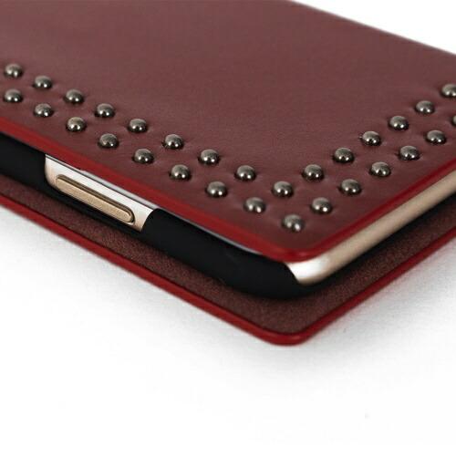 ROAロアiPhoneXSMax6.5インチ用DotStudsDiaryレッド