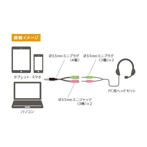 ミヨシMIYOSHIPC用オーディオ変換ケーブル3極-4極PAA-3P4P[PAA3P4P]