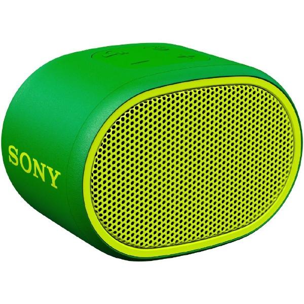 ソニーSONYブルートゥーススピーカーSRS-XB01GCグリーン[Bluetooth対応/防水][SRSXB01GC]