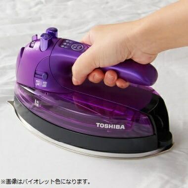 東芝TOSHIBAコードレススチームアイロン「美ラクルLa・Coo」TA-FLW910-Nサテンゴールド[ハンガーショット機能付き][ハンディアイロンコードレスTAFLW910N]