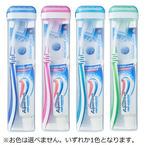 アース製薬Earthアクアフレッシュ(Aquafresh)トラベル用歯ブラシセットオーラルケア