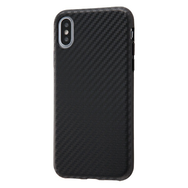 イングレムIngremiPhoneXS/X耐衝撃ケースエアリータフカーボン/カーボンブラックINA-P20CP3/CBカーボンブラック