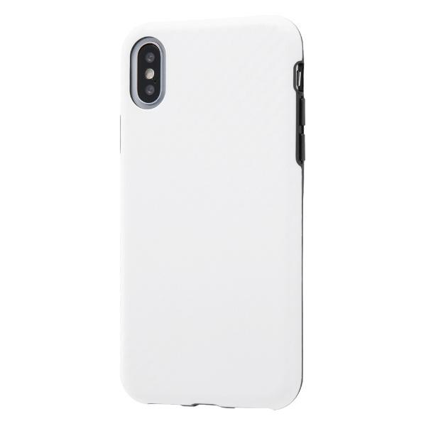 イングレムIngremiPhoneXS/X耐衝撃ケースエアリータフカーボン/カーボンホワイトINA-P20CP3/CWカーボンホワイト