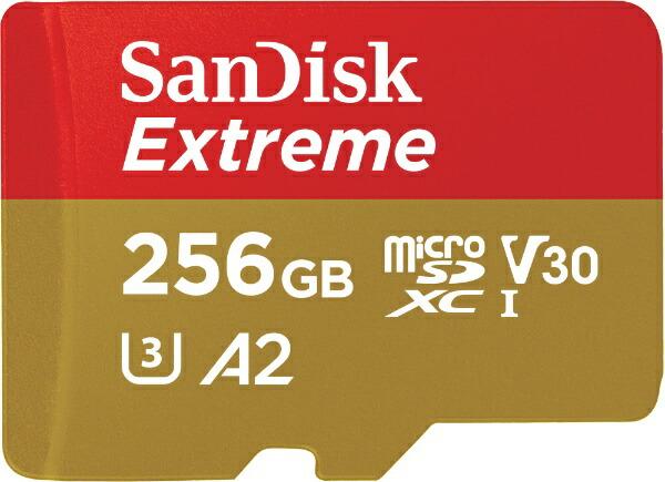 サンディスクSanDiskmicroSDXCカードExtreme(エクストリーム)SDSQXA0-256G-JN3MD[256GB/Class10][SDSQXA0256GJN3MD]
