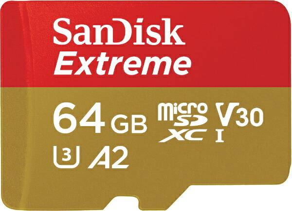 サンディスクSanDiskmicroSDXCカードExtreme(エクストリーム)SDSQXAF-064G-JN3MD[64GB/Class10][SDSQXAF064GJN3MD]