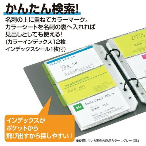 セキセイSEKISEIザ・カードシステムカードホルダー差替式名刺3段ピンクC-180-21