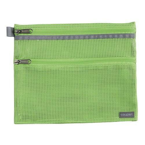 セキセイSEKISEICP-3356クプレメッシュケース<2ウェイ>M(A5)ライトグリーン