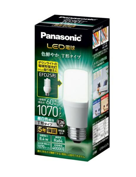 パナソニックPanasonicLDT8N-G/S/T6LED電球ホワイト[E26/昼白色/1個/60W相当/T形]